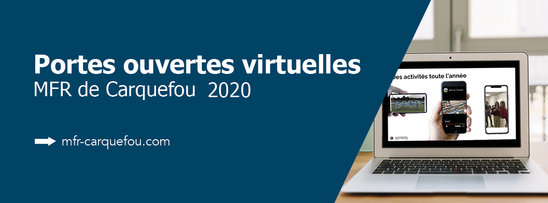Affiche portes ouvertes virtuelles 2020 (Crédit photo : MFR de Carquefou)
