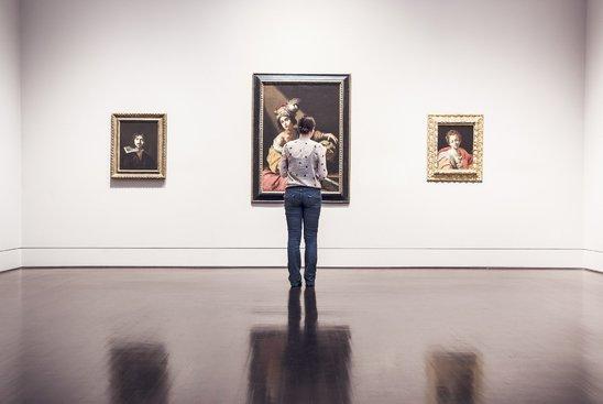 Un visiteur dans un musée (Crédit photo : Ryan McGuire)