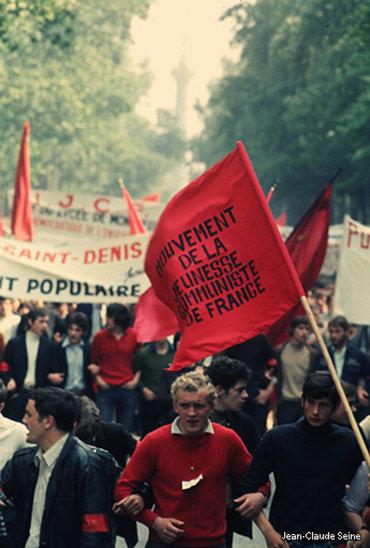 Les étudiants dans les rues de Paris. (Crédit photo : Jean-Claude Seine)