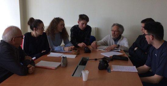 Rencontre avec André Luherne et Jean-Pascal Gentil (manque Pierre Danet) (Crédit photo : DR)