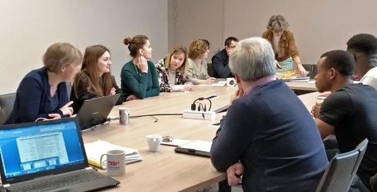 Le comité de pilotage Qualycée en présence d'étudiants (Crédit photo : LJA)