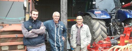 De gauche à droite, Evan, Christian et Joseph. (Crédit photo : DR)